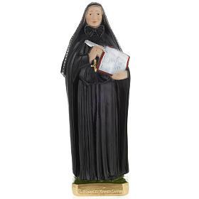 Estatua Santa Francesca Saverio Cabrini 30 cm. yeso s1