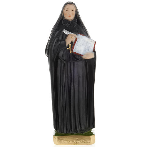 Sainte Françoise-Xavière Cabrini plâtre 30cm 1