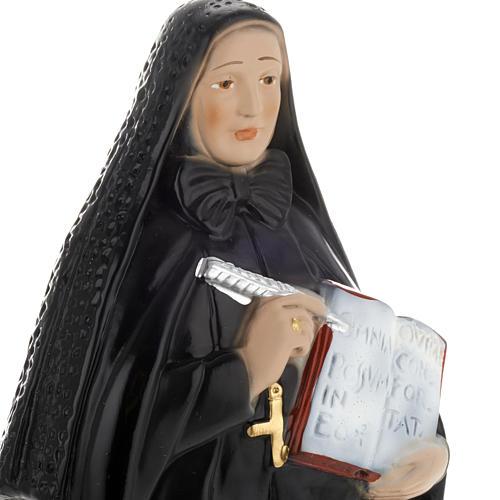 Sainte Françoise-Xavière Cabrini plâtre 30cm 2
