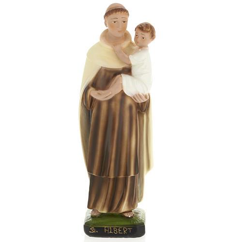 Statua Sant'Alberto 30 cm gesso 1