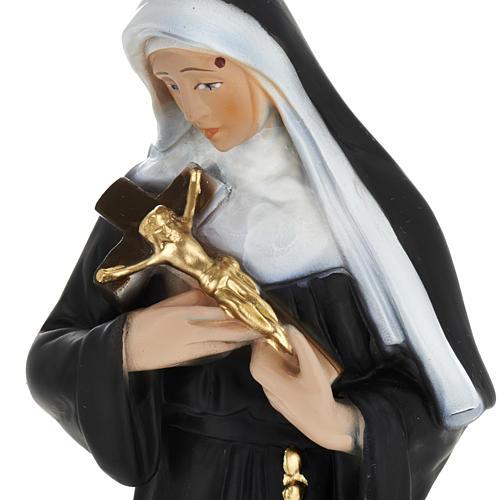 Statue Sainte Rita plâtre 30 cm 2