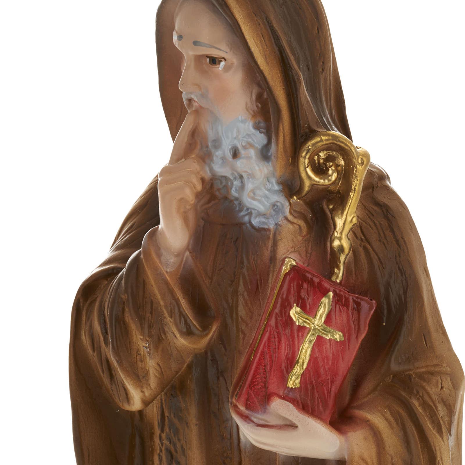 Statua San Benedetto 30 cm gesso 4