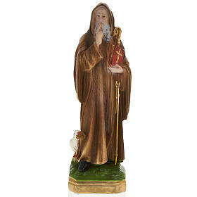 Statua San Benedetto 30 cm gesso s1