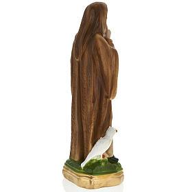 Statua San Benedetto 30 cm gesso s4