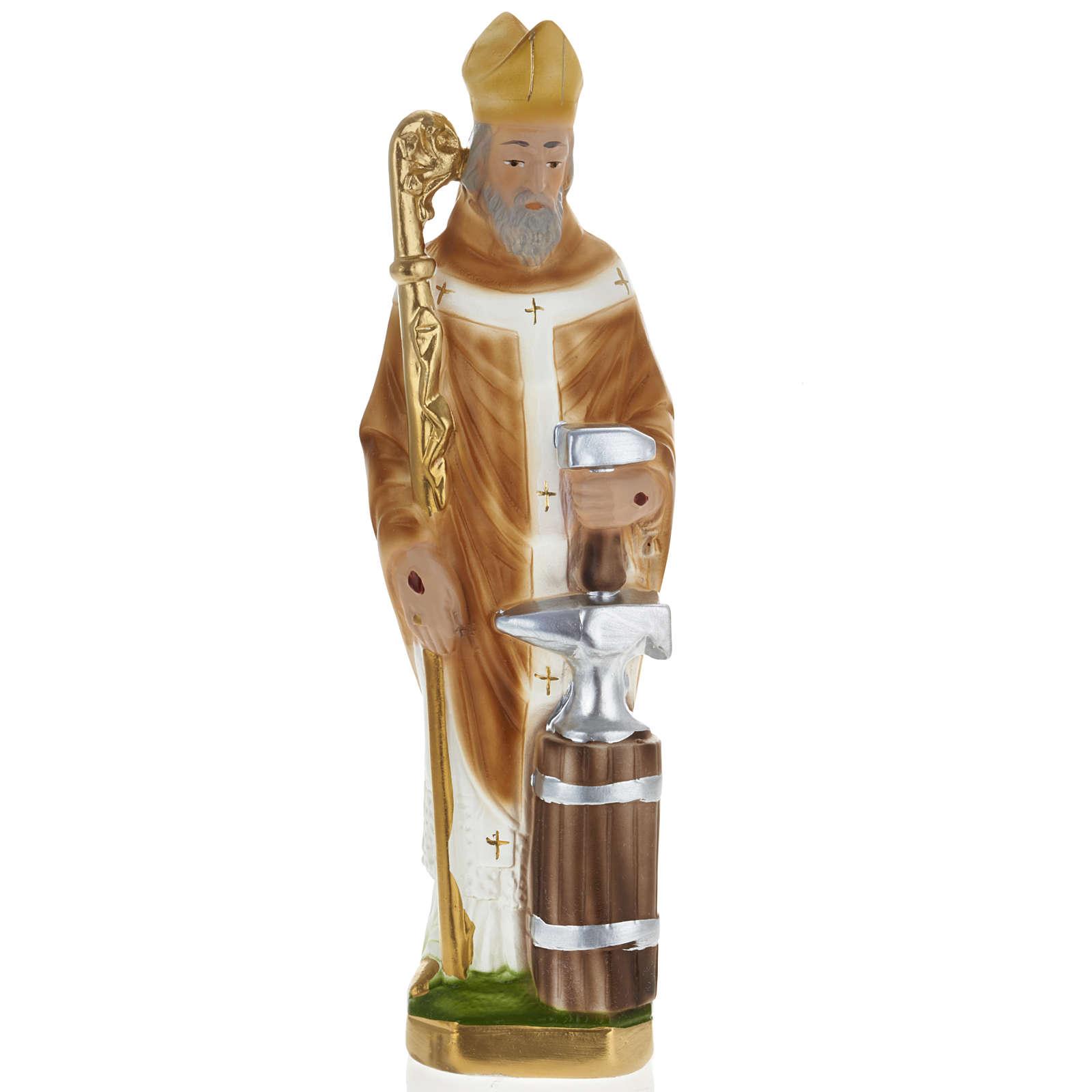 Estatua San Eloy de Noyon 30 cm. yeso 4