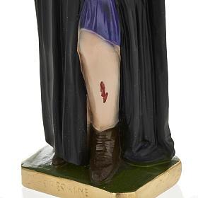 Statue Saint Pérégrin Laziosi plâtre 30 cm s3