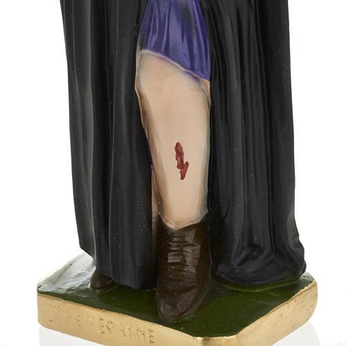 Statue Saint Pérégrin Laziosi plâtre 30 cm 3