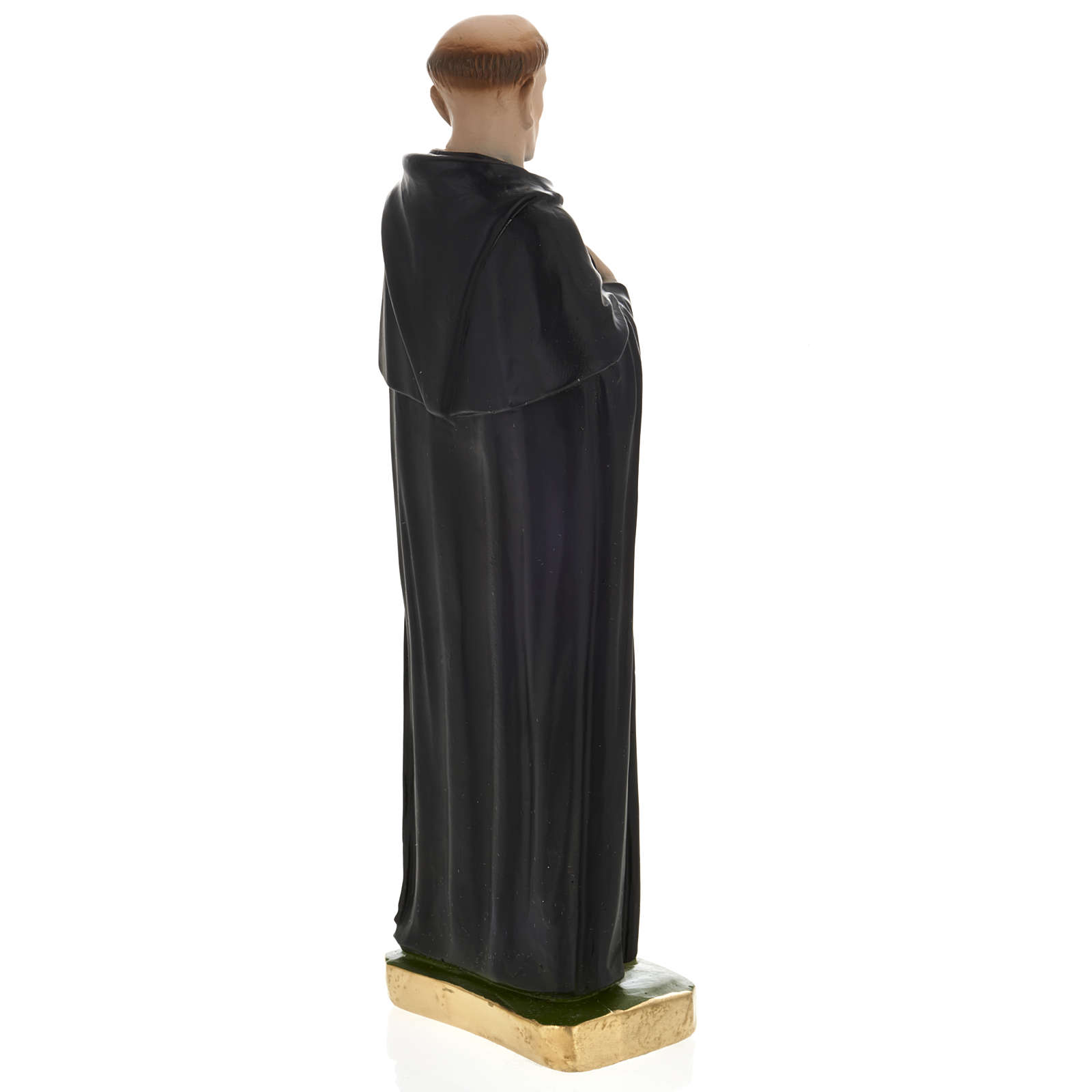 Statua San Pellegrino Laziosi 30 cm gesso 4