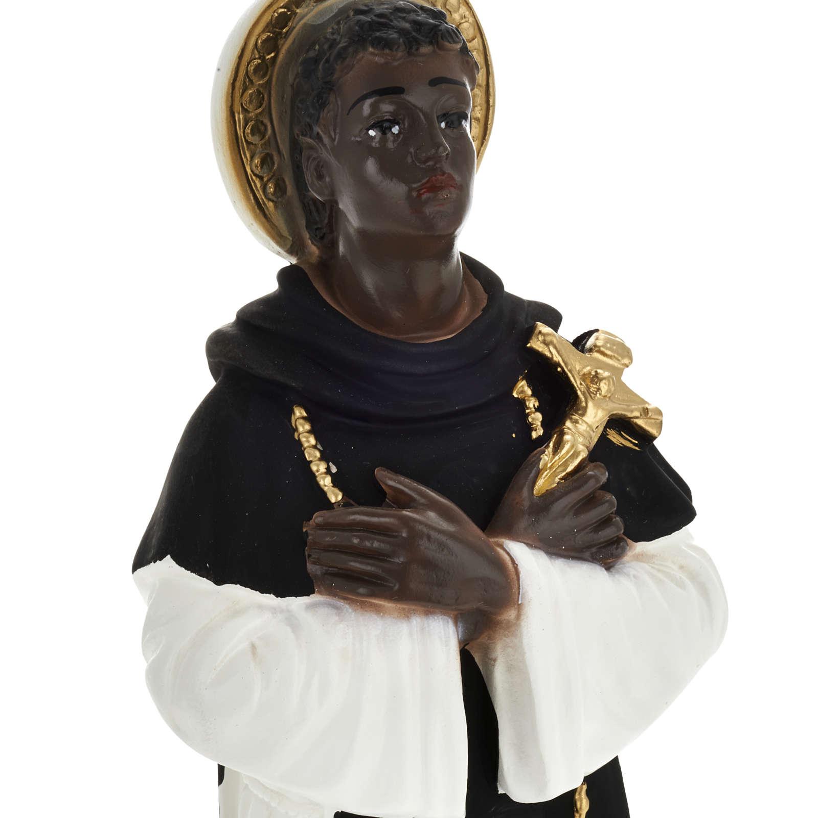 Statua San Martín de Porres 30 cm gesso 4