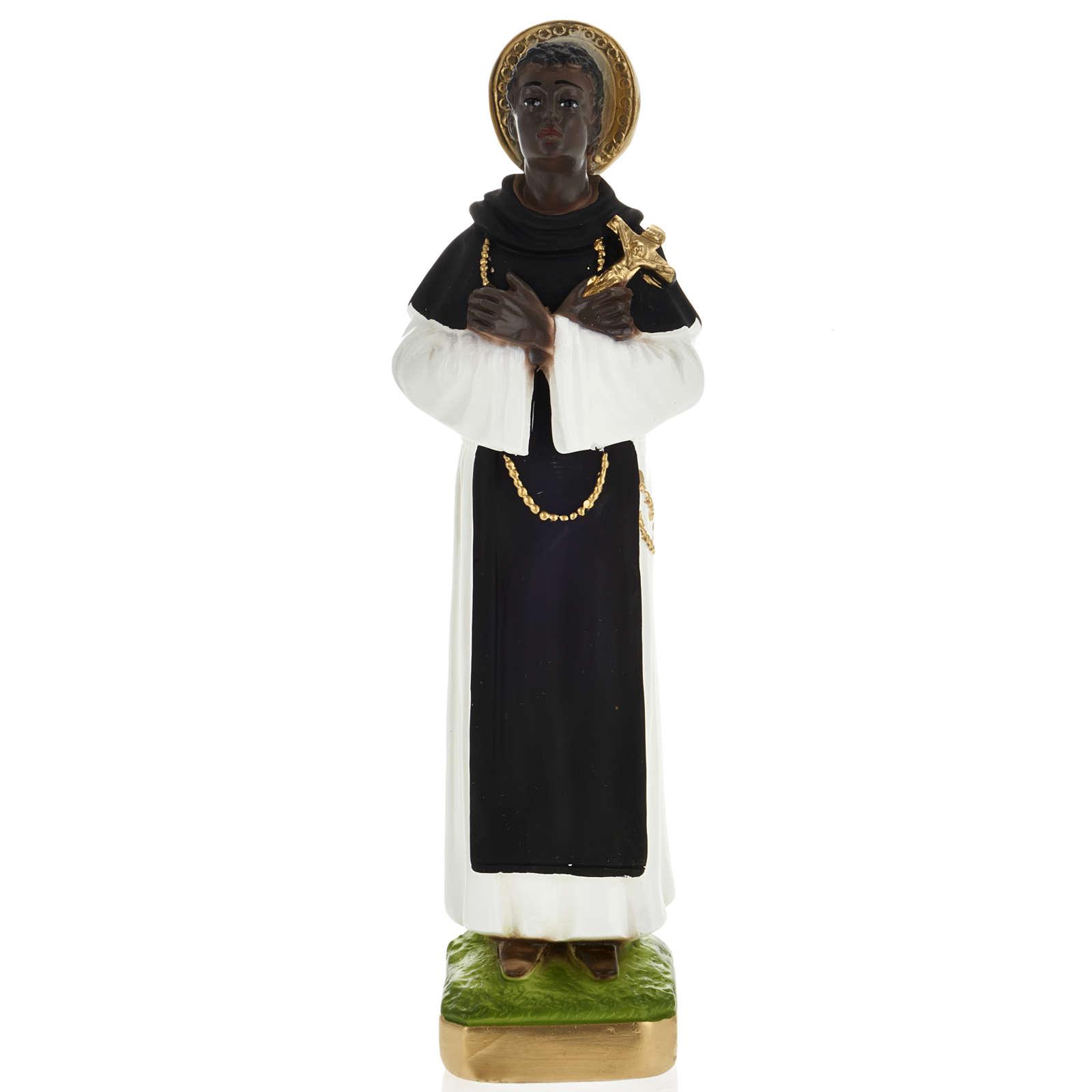 Saint Martin de Porres statue in plaster, 30 cm 4