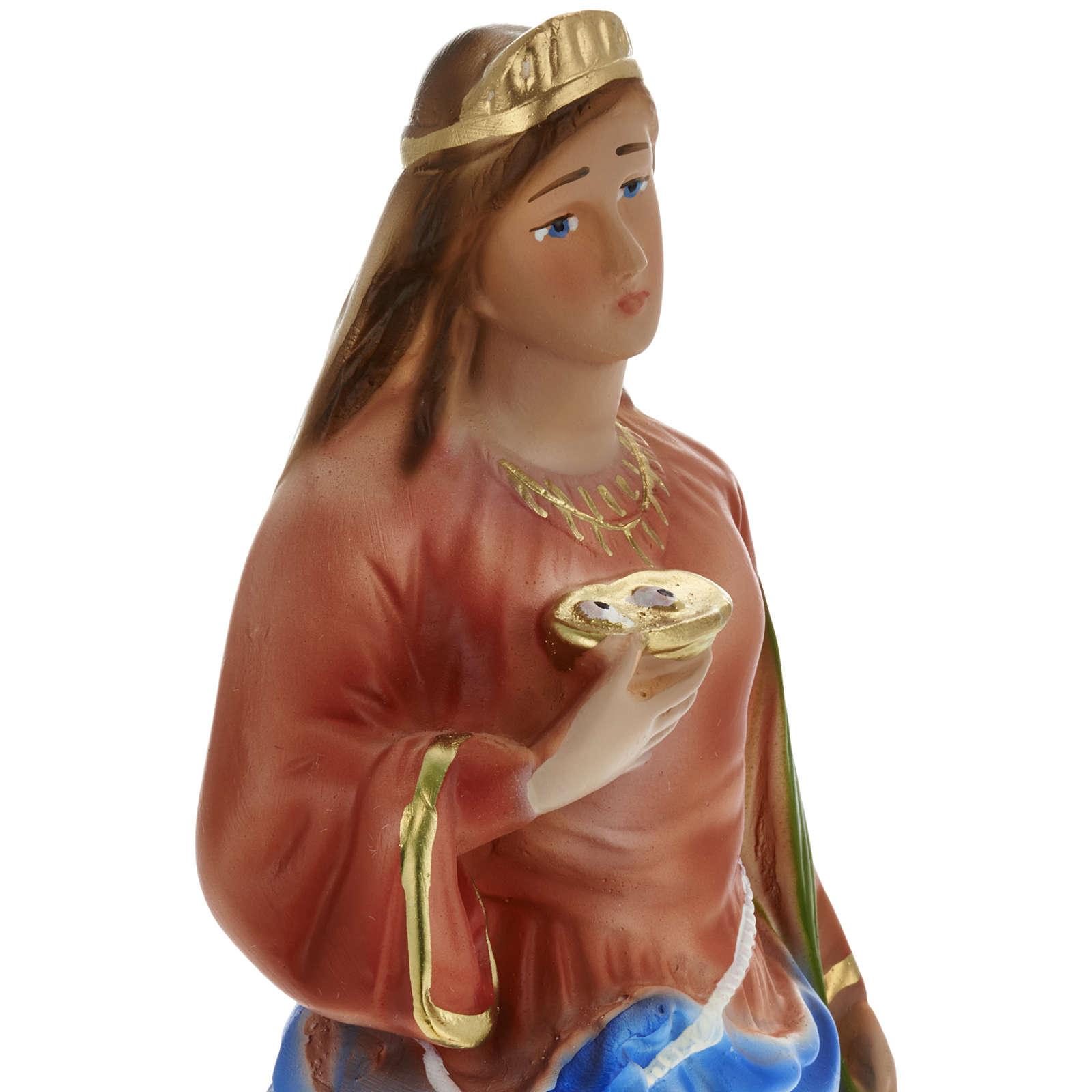 Statue Sainte Lucie plâtre 30 cm 4