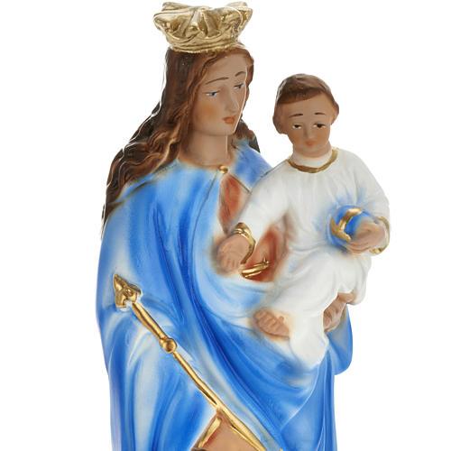 Statua Madonna Ausiliatrice 30 cm gesso 2