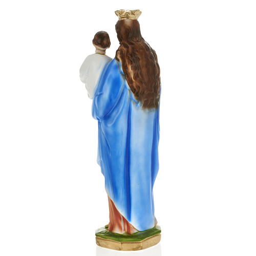 Statua Madonna Ausiliatrice 30 cm gesso 3