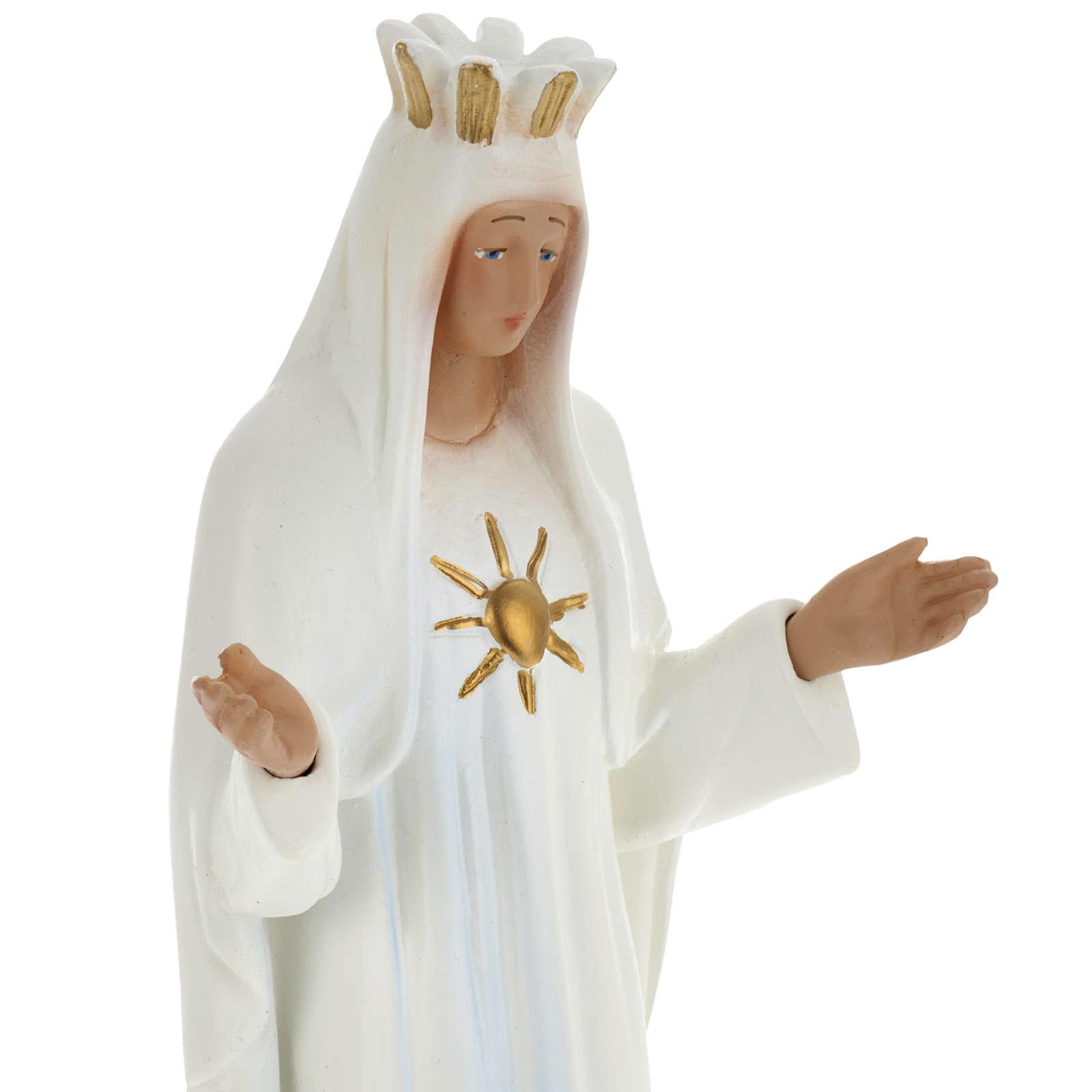 Statua Vierge Marie de Beauraing 30 cm gesso 4