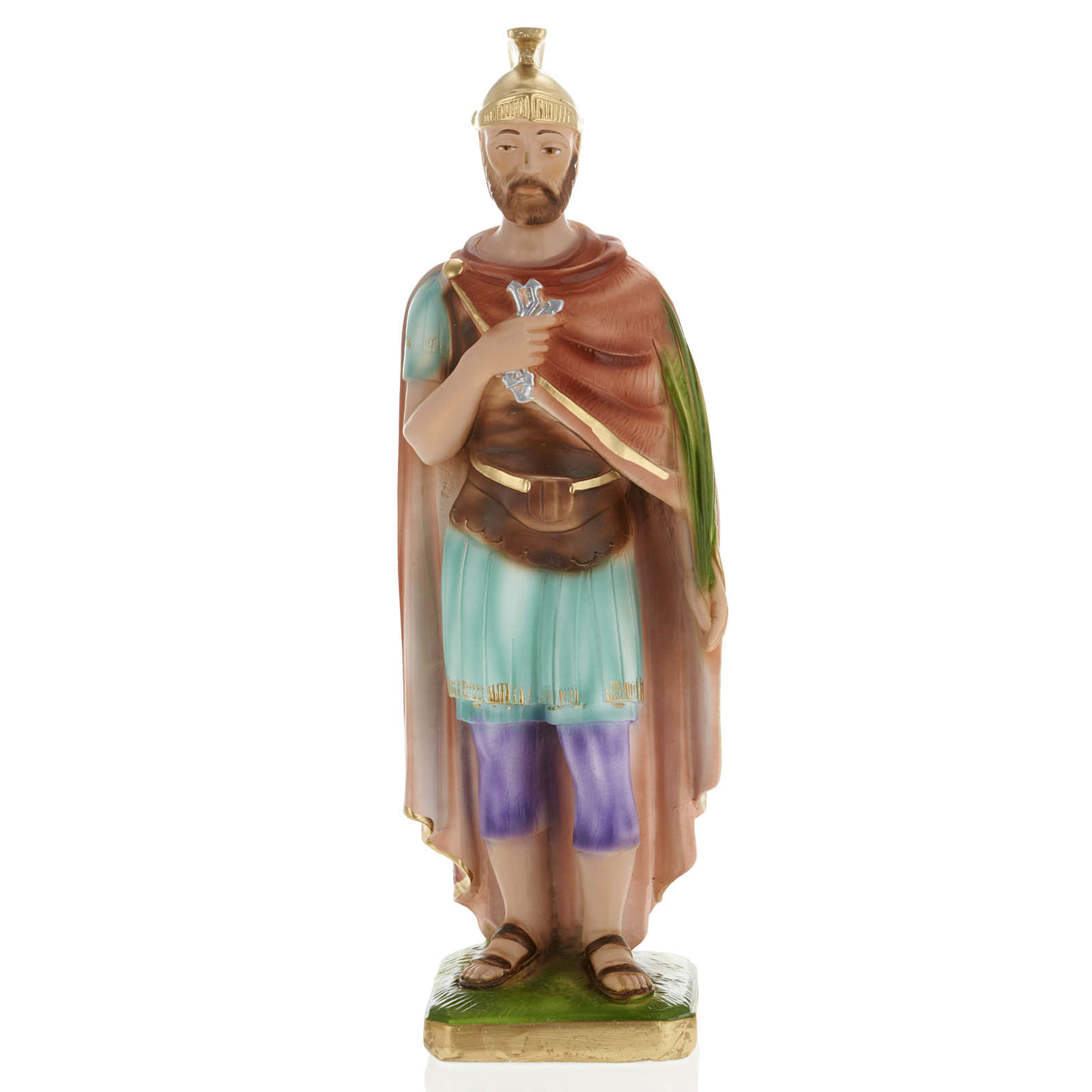 Saint Donatus statue in plaster, 30 cm 4