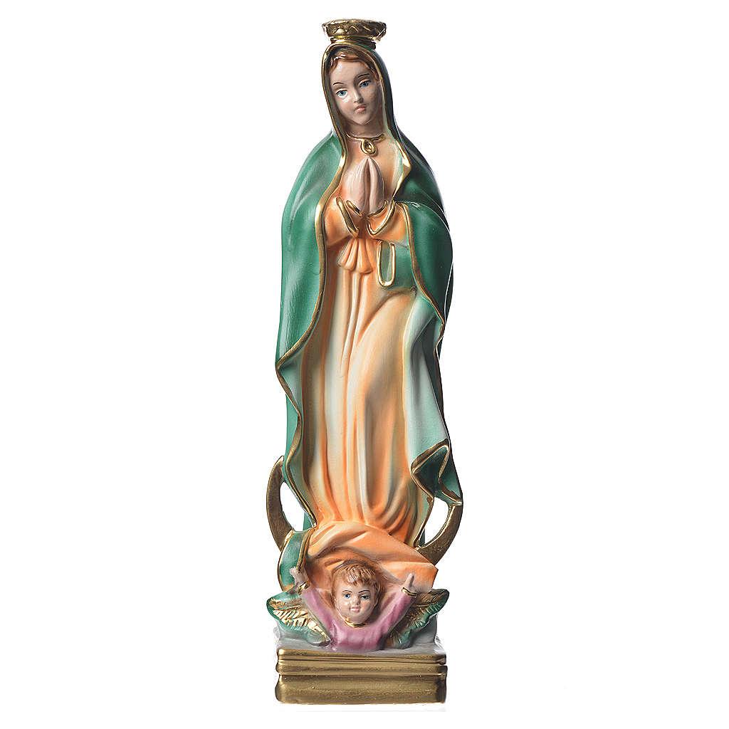 Statua Madonna di Guadalupe 30 cm gesso madreperlato 4