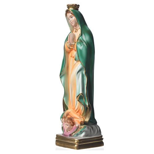 Statua Madonna di Guadalupe 30 cm gesso madreperlato 5