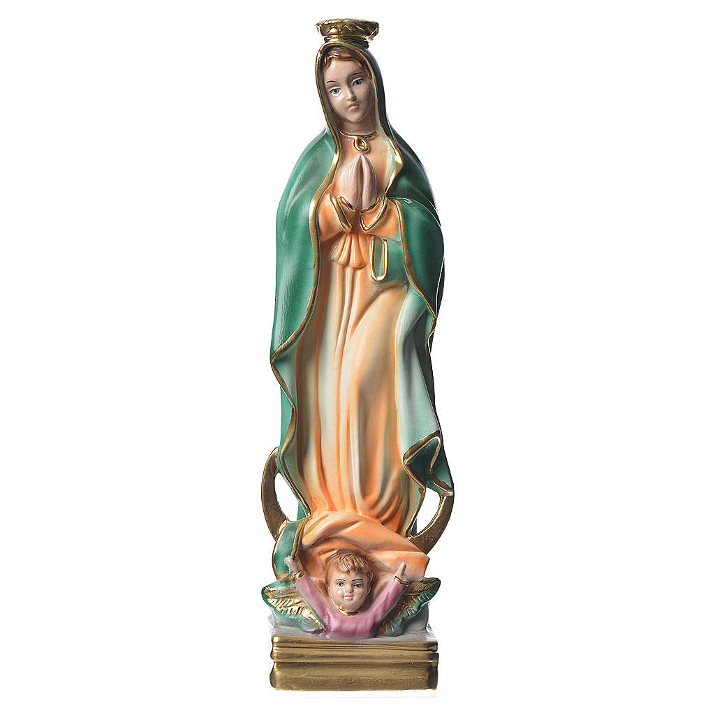 Our Lady of Guadalupe plaster statue, 30 cm 4