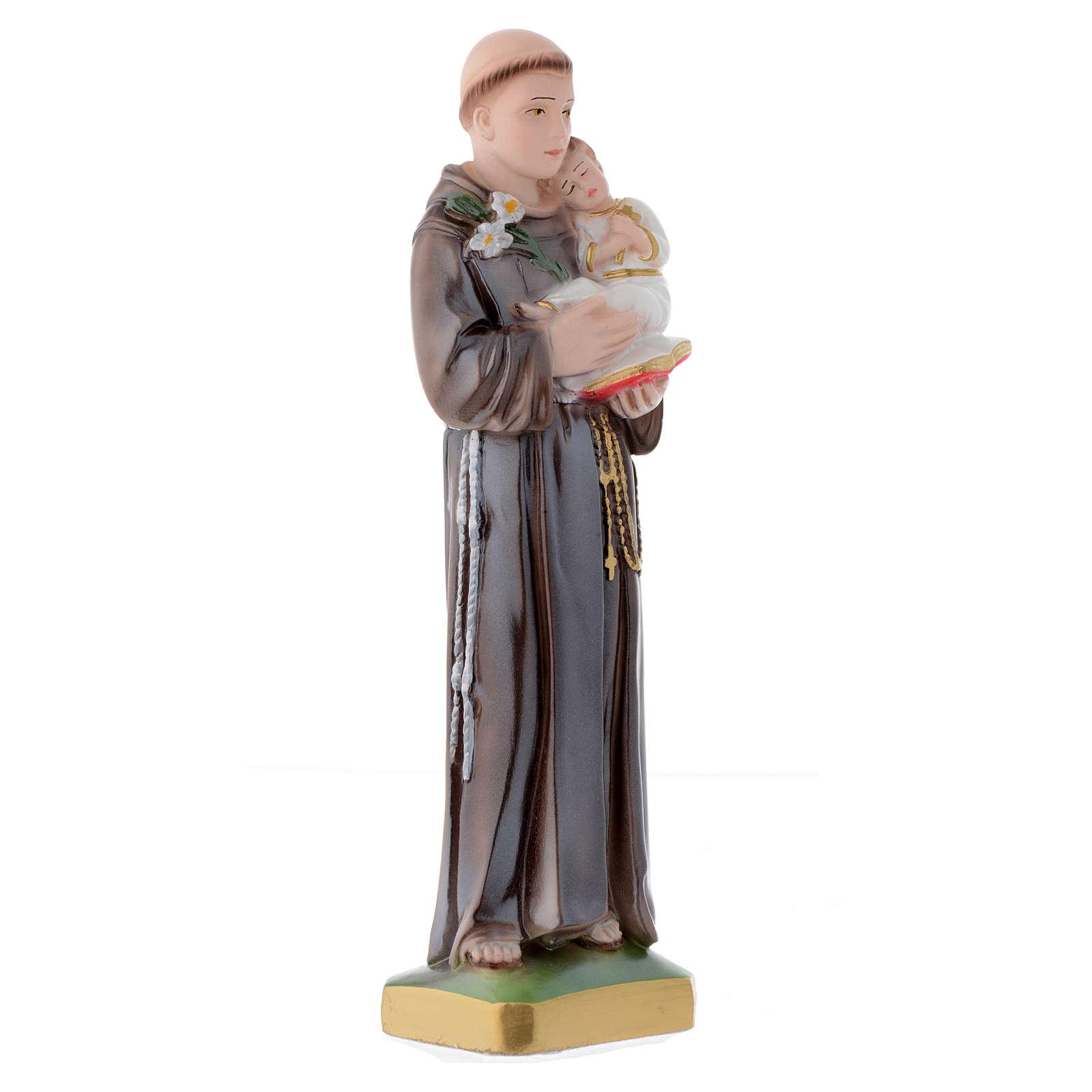 Statua Sant'Antonio da Padova 30 cm gesso madreperlato 4