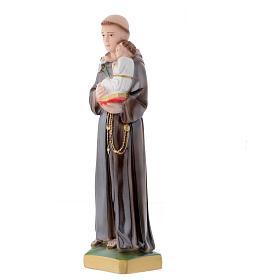 Statua Sant'Antonio da Padova 30 cm gesso madreperlato s2