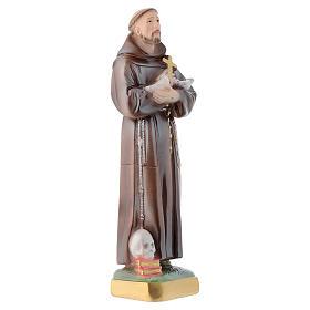 Statua San Francesco 30 cm gesso madreperlato s3