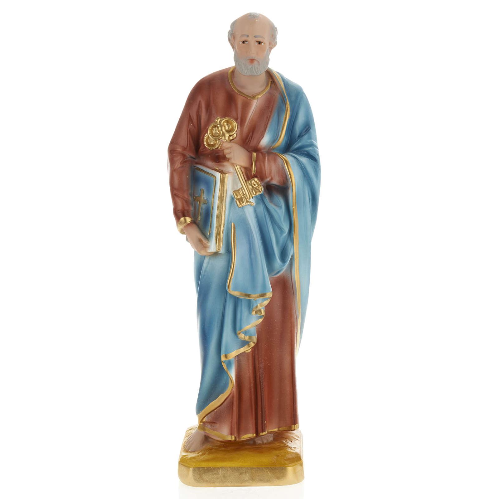 Estatua San Pedro 30 cm. yeso 4