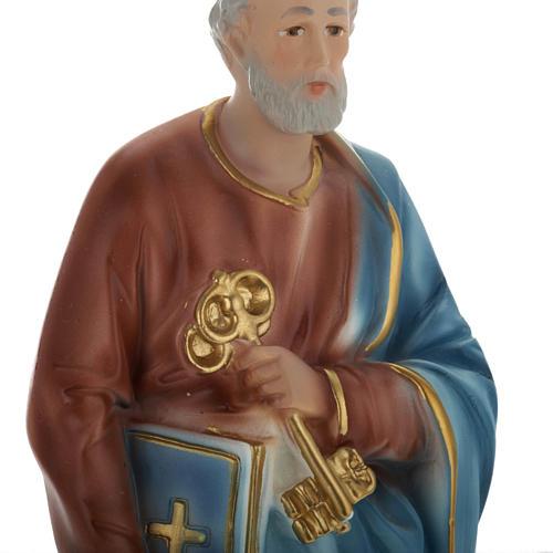 Estatua San Pedro 30 cm. yeso 2