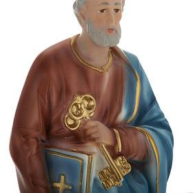 Statua San Pietro 30 cm gesso s2