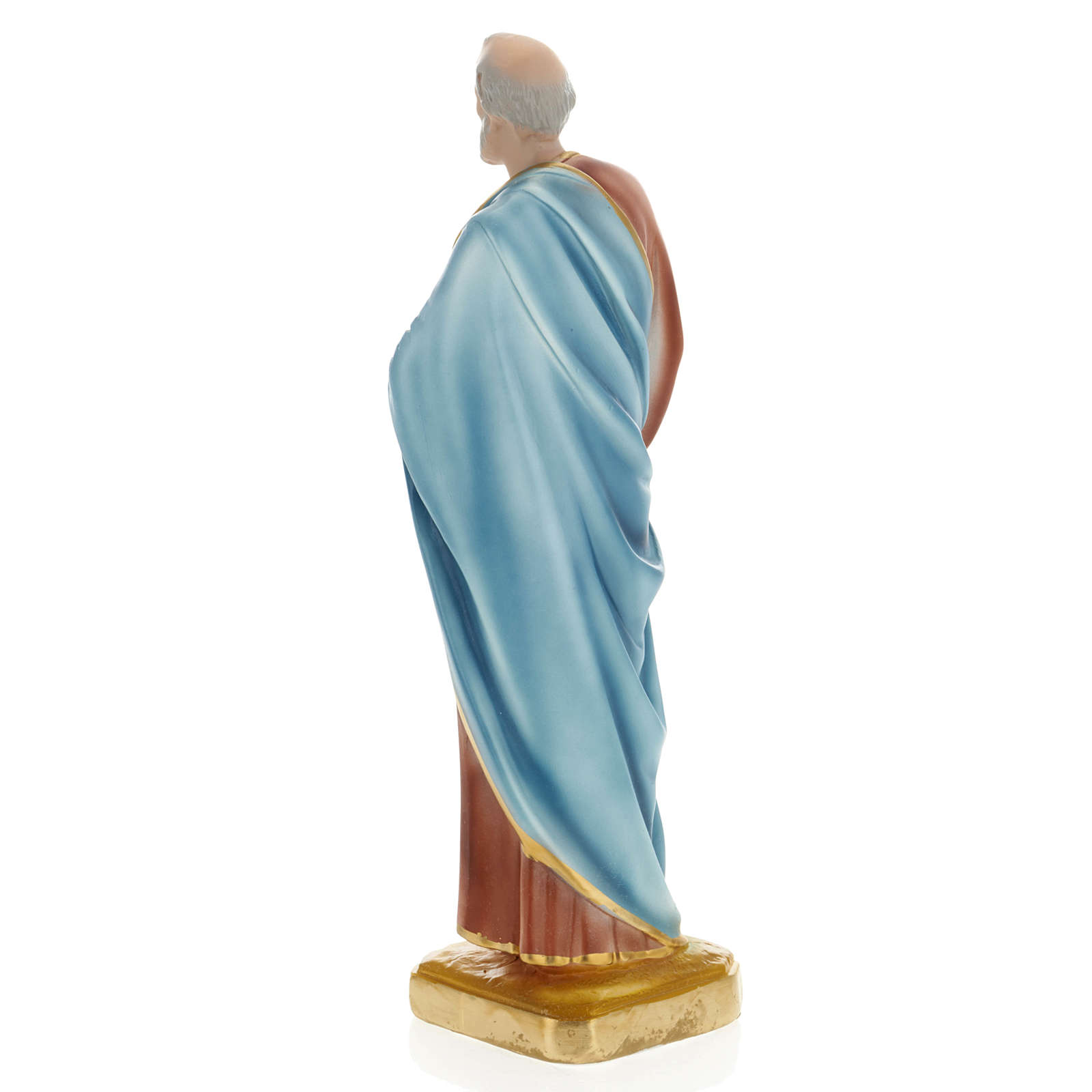 Saint Peter statue in plaster, 30 cm 4