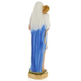 Statua Madonna con bambino 25 cm gesso s3