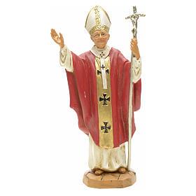 Statua Madonna con bambino 25 cm gesso s4