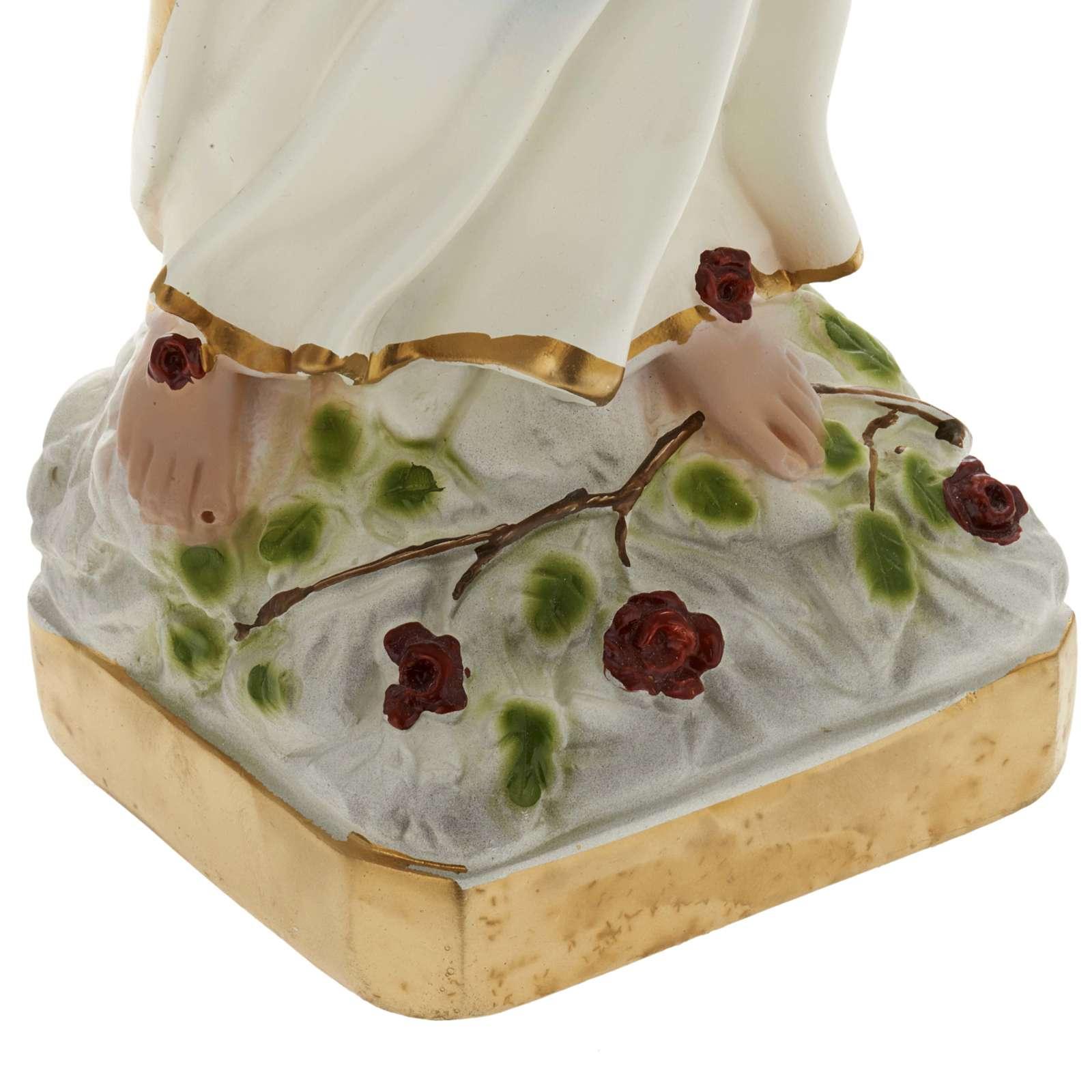 Statua Madonna di Lourdes 40 cm gesso 4