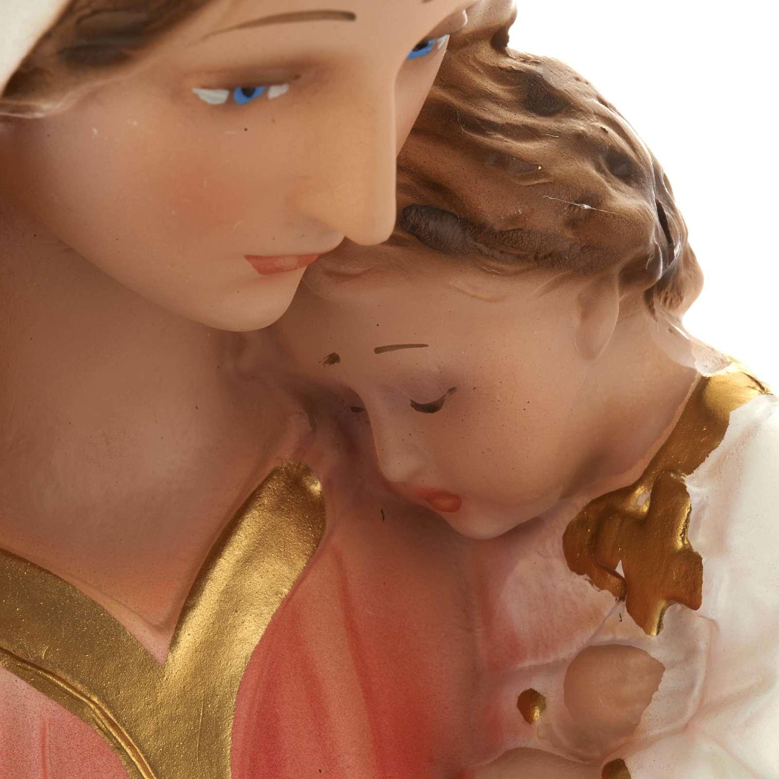 Estatua Virgen con niño 40 cm. yeso 4