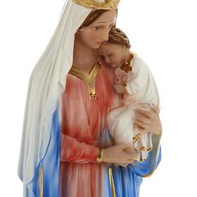 Estatua Virgen con niño 40 cm. yeso s2