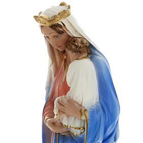 Estatua Virgen con niño 40 cm. yeso s3