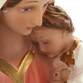 Estatua Virgen con niño 40 cm. yeso s5