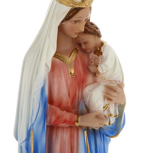 Estatua Virgen con niño 40 cm. yeso 2