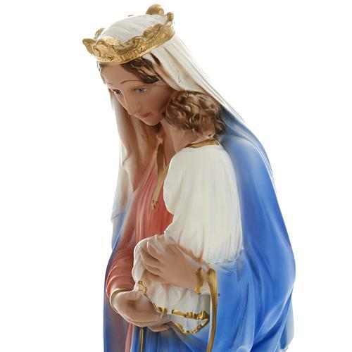 Estatua Virgen con niño 40 cm. yeso 3