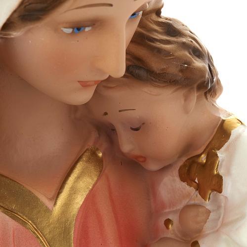 Estatua Virgen con niño 40 cm. yeso 5