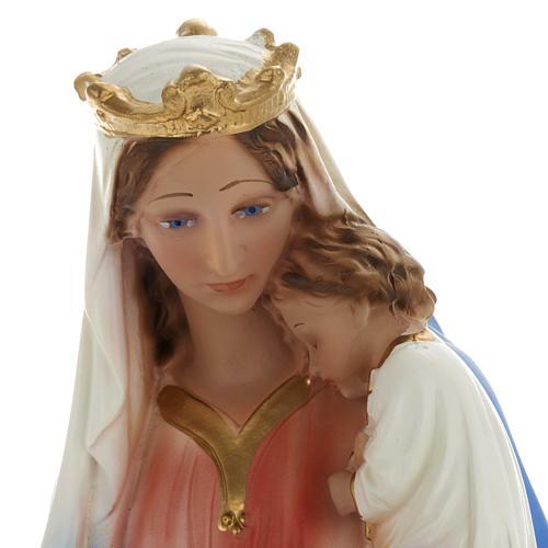 Estatua Virgen con niño 40 cm. yeso 6