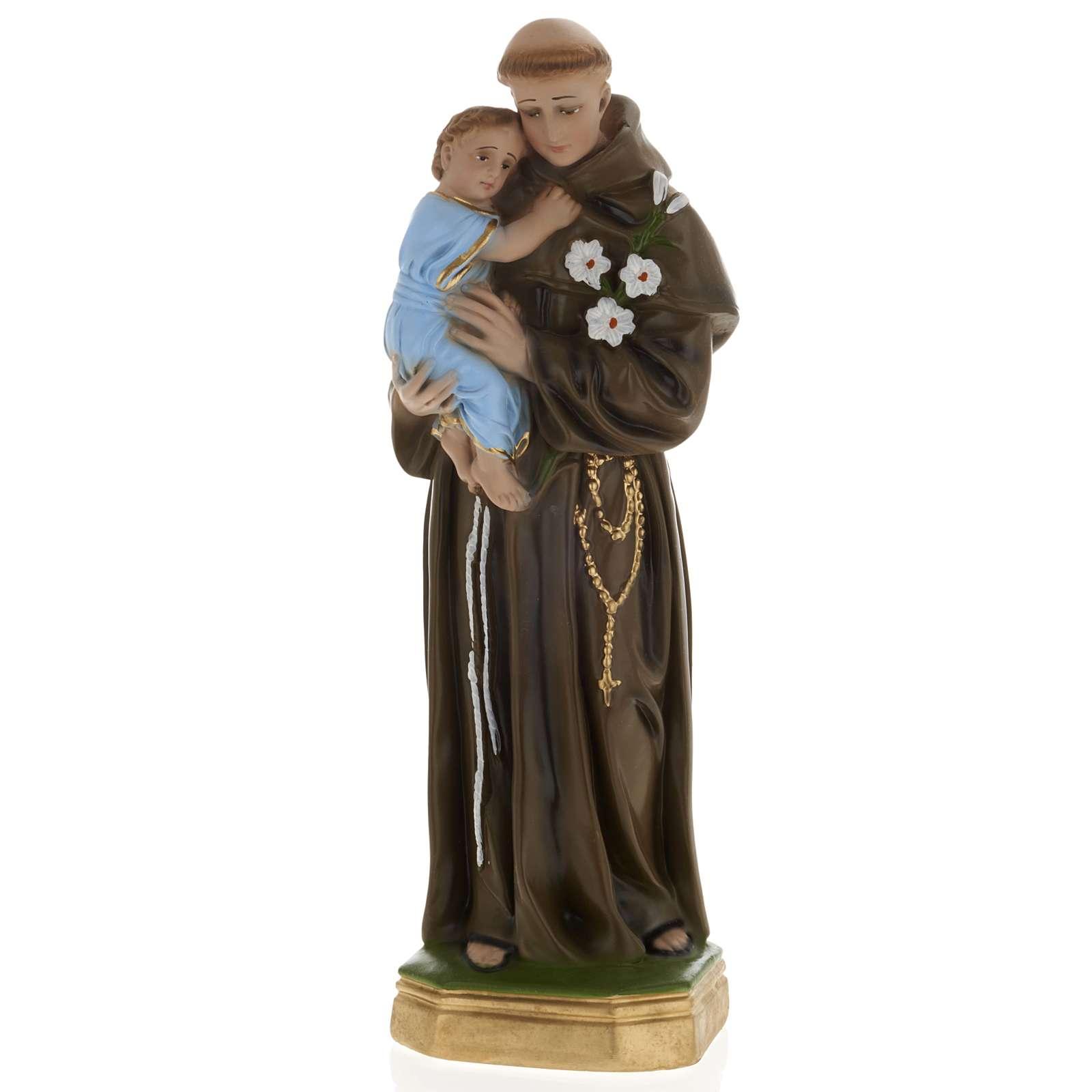 Statua Sant'Antonio da Padova 40 cm gesso 4