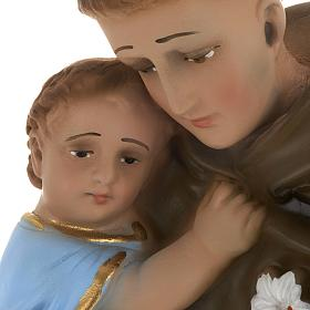 Statua Sant'Antonio da Padova 40 cm gesso s4