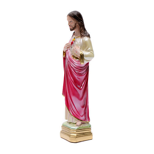 Sacred Heart of Jesus, pearlized plaster statue, 40 cm 2