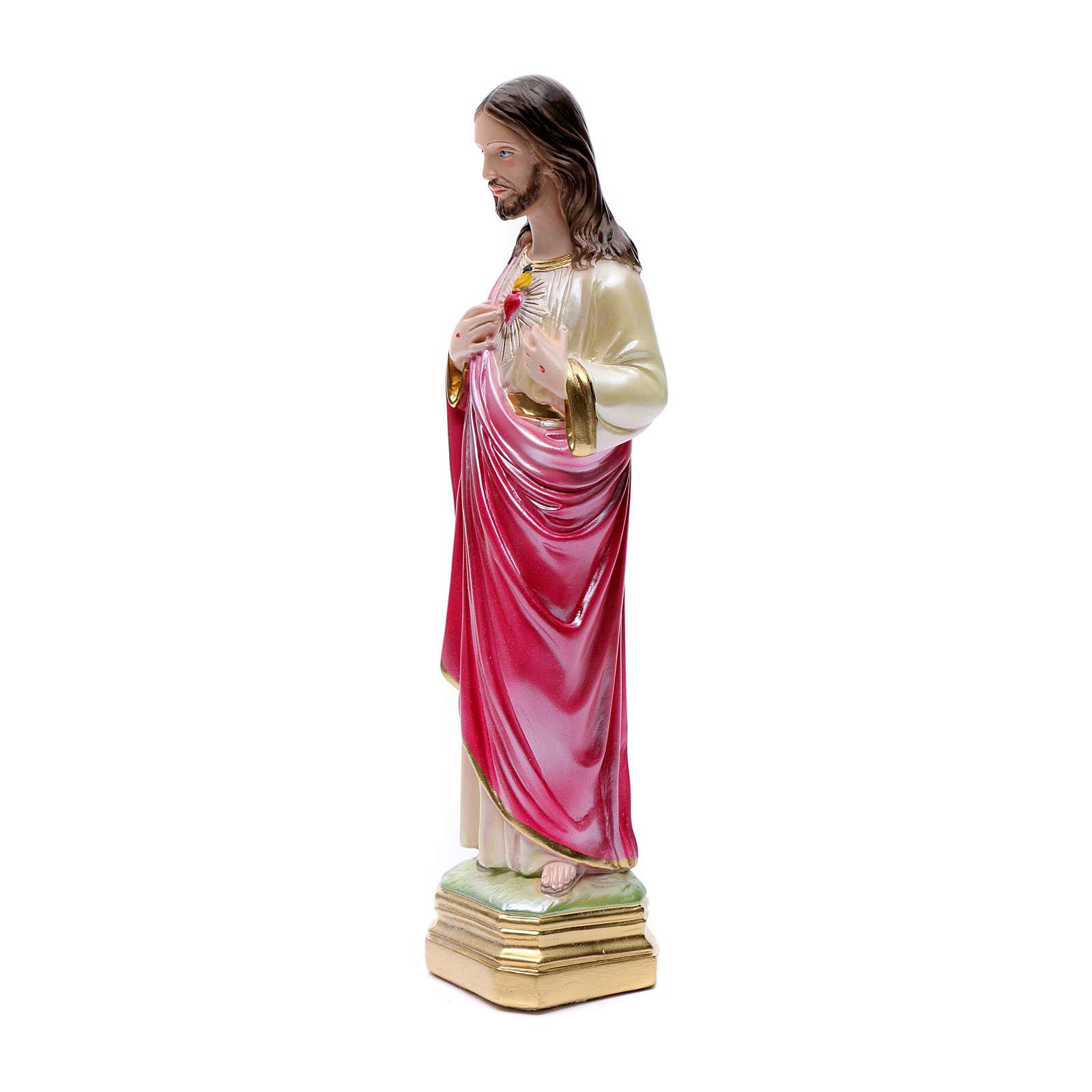 Estatua Sagrado Corazón de Jesús 40 cm. yeso 4