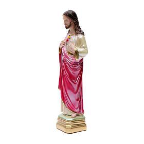 Statua Sacro Cuore di Gesù 40 cm gesso madreperlato s2