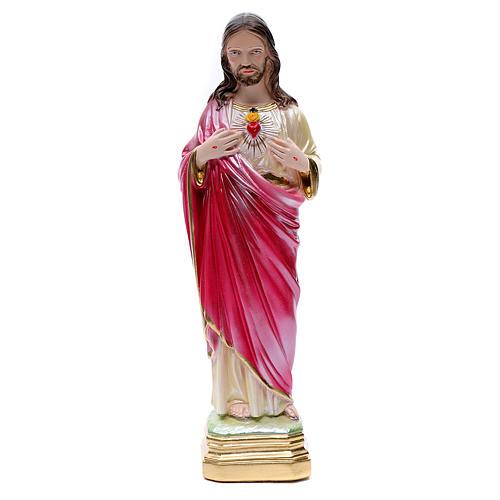 Statua Sacro Cuore di Gesù 40 cm gesso madreperlato 1