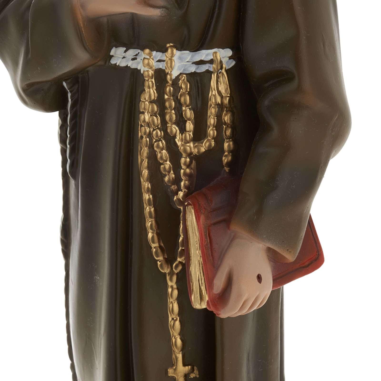 Saint François de Assisi plâtre 40 cm 4