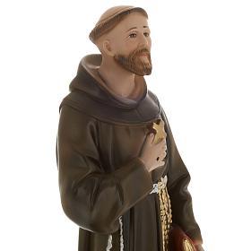 Saint François de Assisi plâtre 40 cm s2
