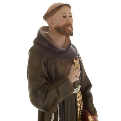 Saint François de Assisi plâtre 40 cm 2