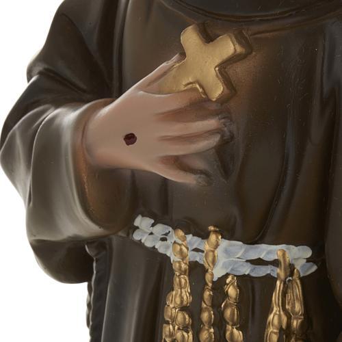 Saint François de Assisi plâtre 40 cm 3